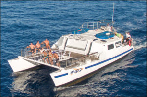 Malolo Boat Headed to Molokini Snorkeling Spot